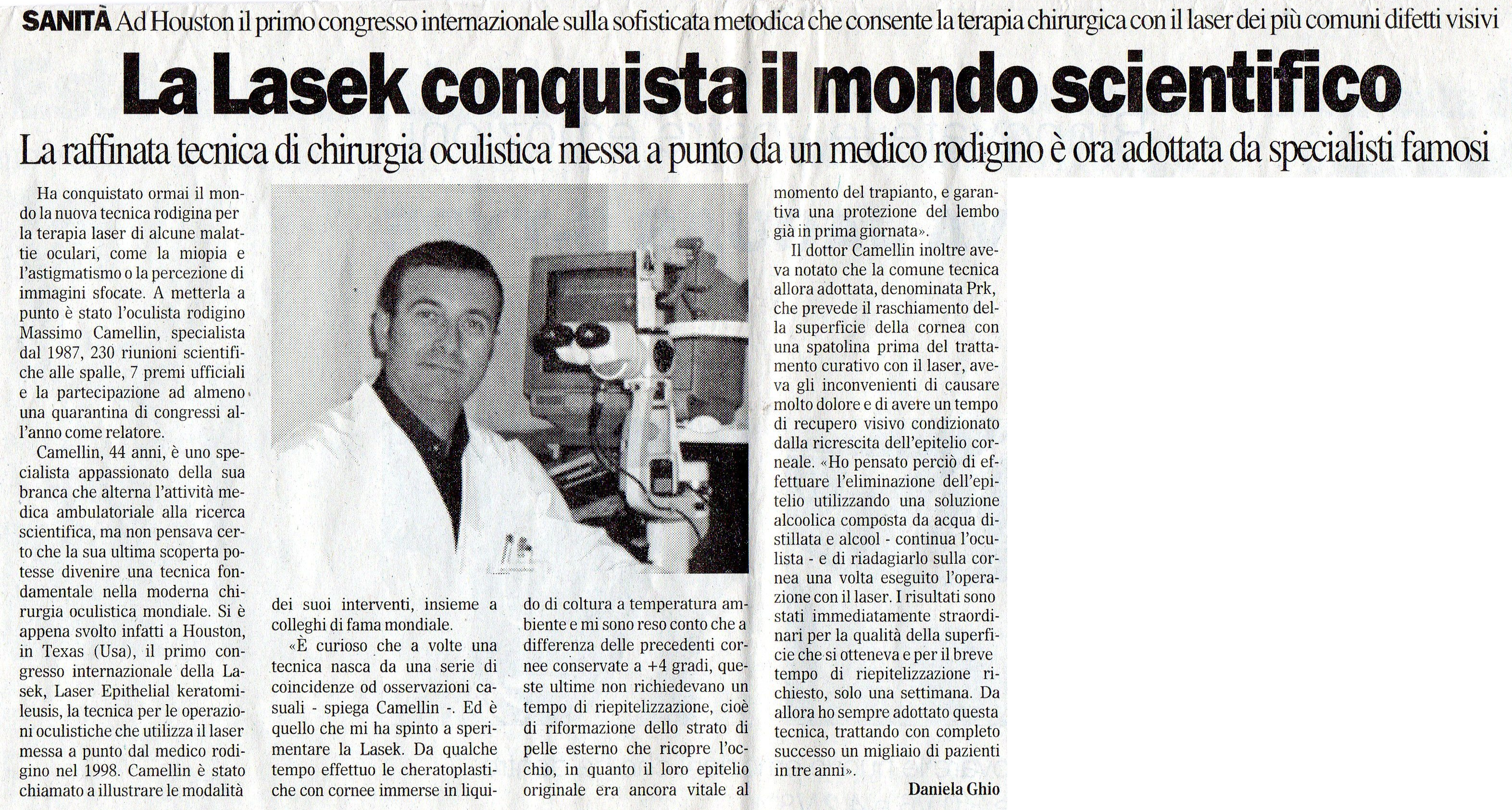 Il Gazzettino di Rovigo – 2 Aprile 2002