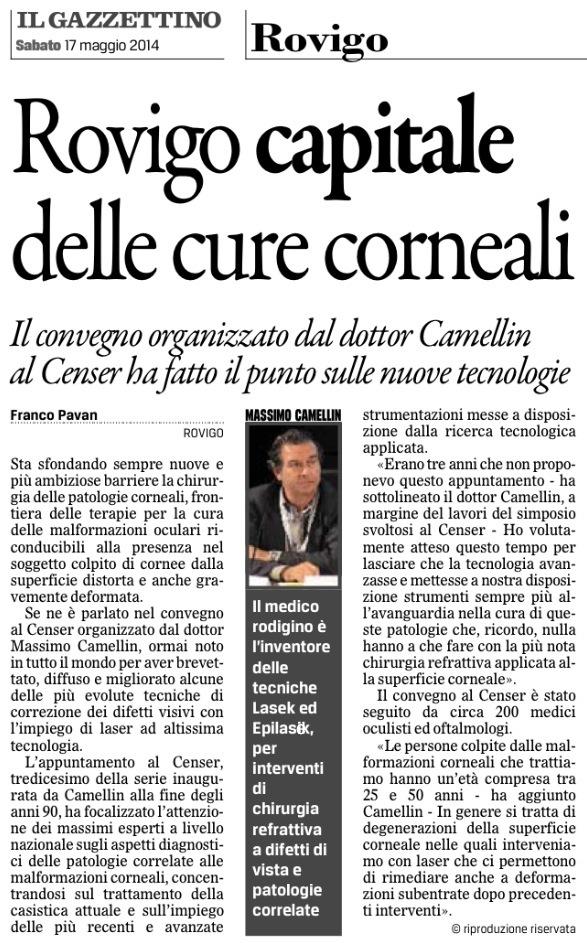 Il Gazzettino di Rovigo – 17 Maggio 2014