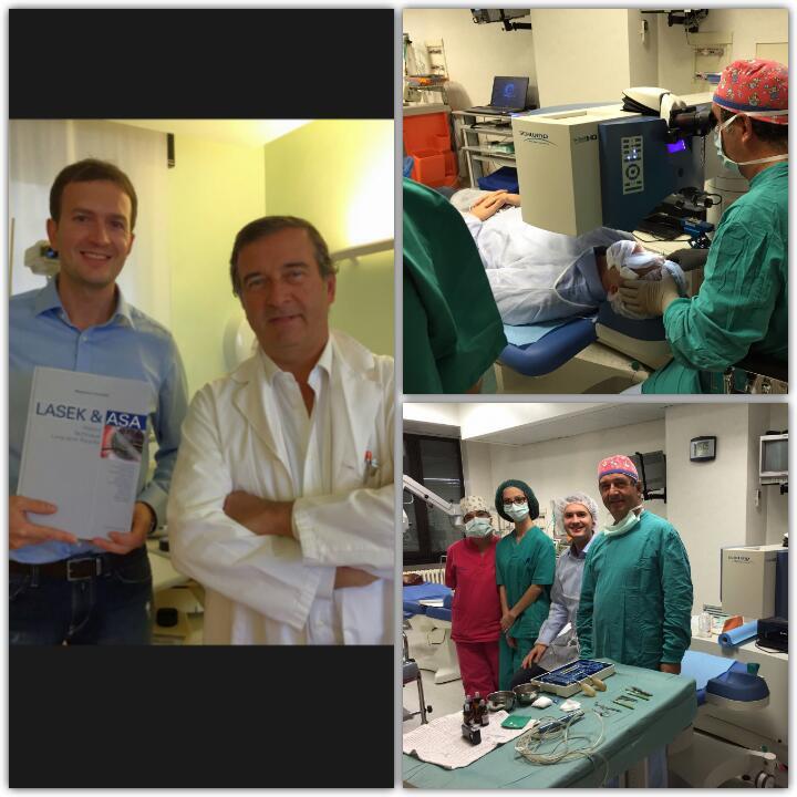 Le foto con il medico oculista di Vilnius (Lituania) Dr. Paulius Rudalevicius